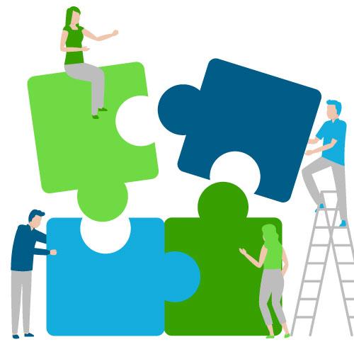 Nous travaillons collaborativement avec vos équipes pour un résultat optimal de nos prestations de conseil