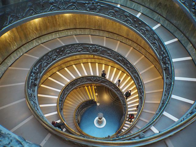 Marches en spirale